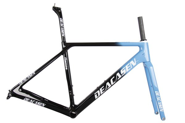 DEACASEN monte karbon Bisiklet yol çerçeve Di2 Mekanik yarış bisikleti çerçeve ile 880g EMS Ücretsiz Kargo