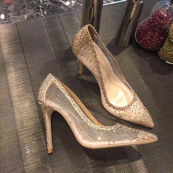 Paris Designer Top Grade Cinderella Crystal Shoes Bridal Rhinestone Wedding Shoes With Flower Genuine Leather Big Small Size 33 34 To 40