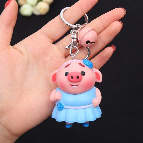 2018 Fashion Pig Monkey Keychain for Women's bags Pendants Decoration Accessories Car Monkey King keyrings Jewelry