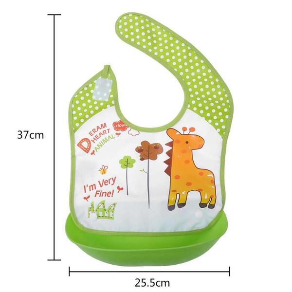 668cdf22dc0cb3 Baby Wasserdichte Entfernung Fütterung Lätzchen Niedlichen Cartoon  Verdicken EVE Silikon Lätzchen Kleinkinder Fütterung Pflege Spuck Kleidung
