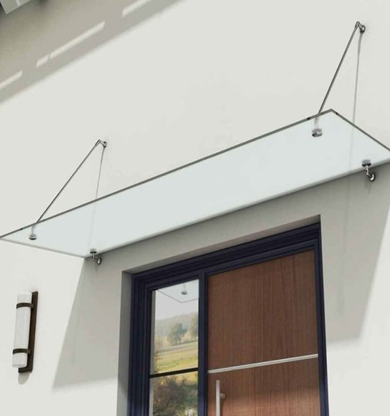 top popular (No Glass)Glass Canopy European Market Glass Canopy Stainless Steel Rods Bracket With CE Certificate 2021