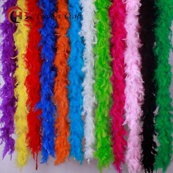 Multi Color Feather Scarf Soft 2 Meters Plume Wrap Scarves High End Dance Fancy Dress Stage Decoration Supplies 5xx BB