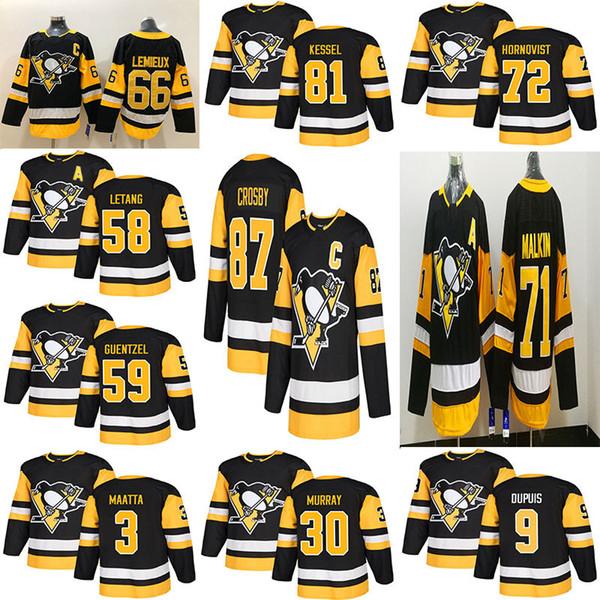 best selling Pittsburgh Penguins Jersey Third 87 Sidney Crosby 71 Evgeni Malkin Phil Kessel Kris Letang Hagelin Lemieux Murray Maatta Guentzel Hockey Men