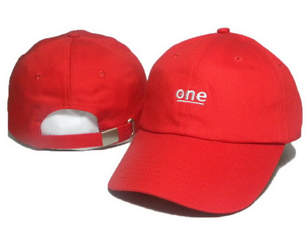 New fashion Rare Drake 6 panel snapback One Embroidery adjustable hats strapback LOVE sports baseball caps curved brim cap Black White ONE