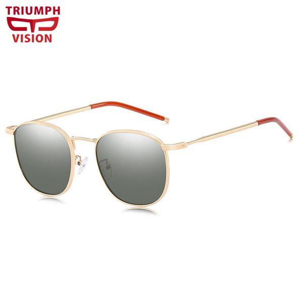 0665adcd5c942 TRIUMPH VISÃO de Design Da Marca De Luxo Retro Óculos De Sol Das Mulheres  Dos Homens