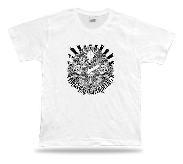 Satın Al Prens Büyüleyici Iskelet Bull T Shirt Harika Serin Bir