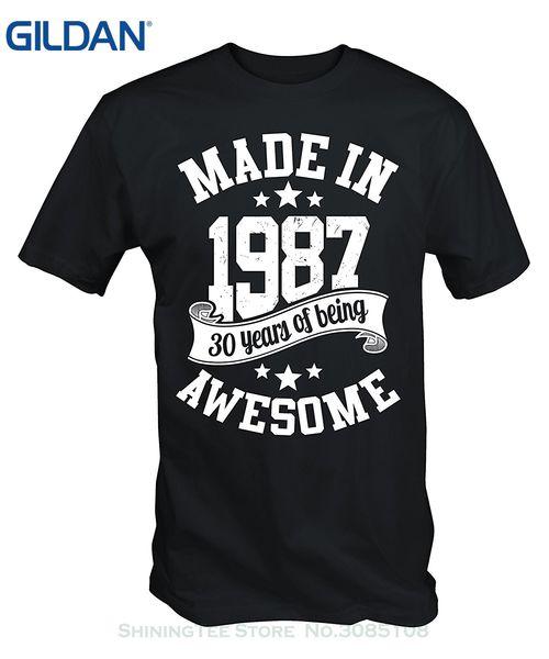 T-shirt da uomo Summer T di sconto all'ingrosso T-shirt da uomo New 6tn Made in 1987 30 anni di T Shirt Awesome