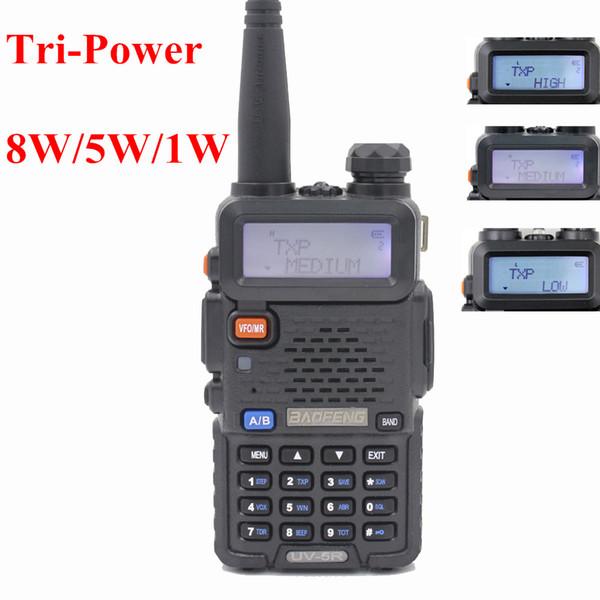 2PCS Powerful BaoFeng UV-5R 8W Walkie Talkie/ Two Way Radio UV136-174/400-520MHz Long Range Portable UV 5R Radio for Security