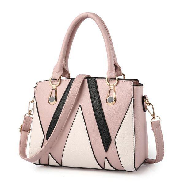 8e3d7587bb70 Class Ladies Handbags Totes Bag Fashion Women Geometric Handbag Wholesale  Two-tone Version Wild Girl Shoulder Bags Messenger Bag Female