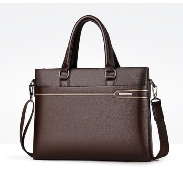 b272074e2cac5 Erkekler evrak çantası A4 evrak çantası. Laptop kaliteli PU resmi iş  çantaları yüksek kapasiteli büyük