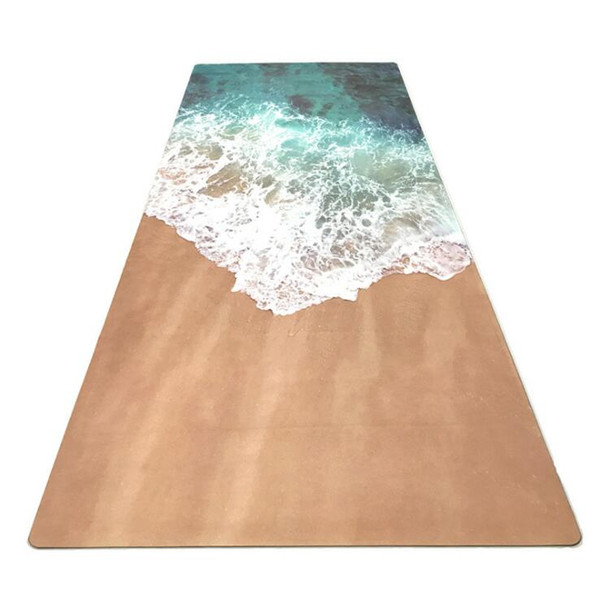 new yoga fitness mat fashion wave printing suede rubber mat factory direct