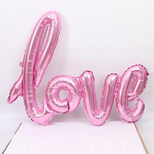 샴 LOVE 풍선 핑크
