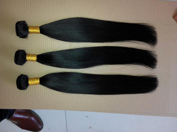 Puer Color Peruvian Virgin Straight Hair Weaving 100% Human Hair Weave 10-30 Inchs Peruvian Jet Black Color Hair Extensions