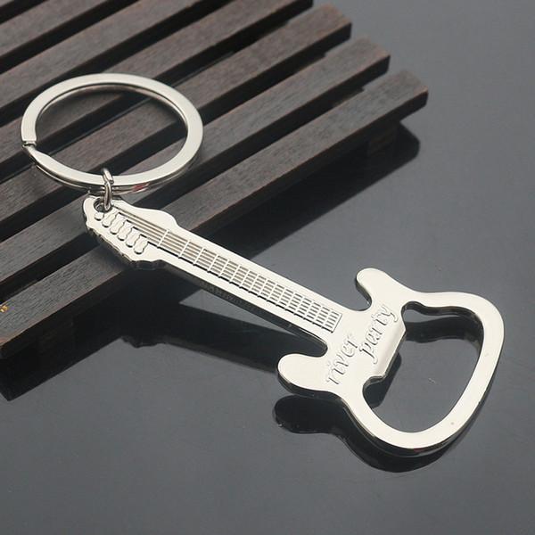 Promotional Beer Openers Creative Bottle Openers Guitar Design Zinc Alloy Key Shaped Bottle Openers Party Gift