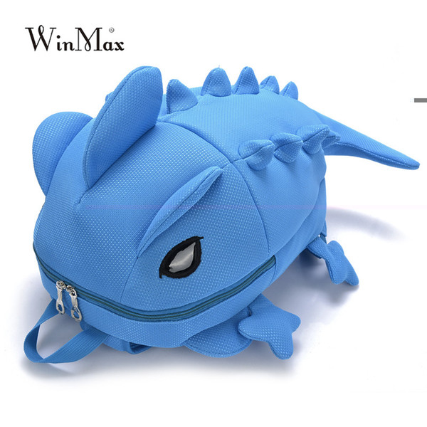 Winmax Chameleon Cartoon Backpack Monster Dinosaur children school bag Personality boys School bags Whimsy travel bag