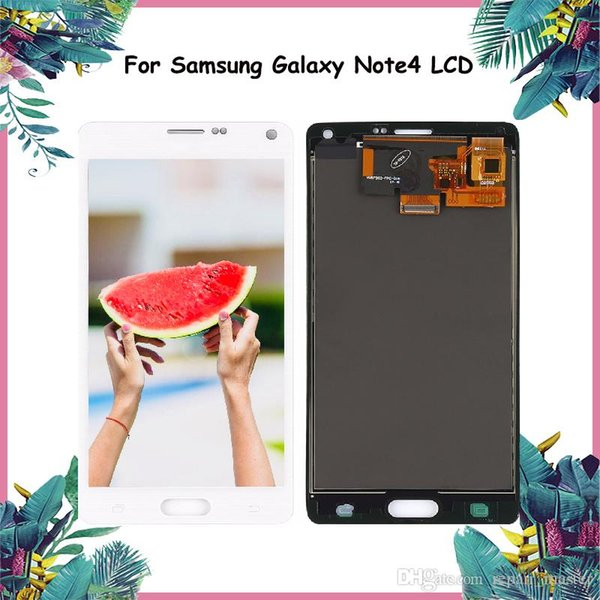 2019 Original 5 7'' AMOLED Screen For SAMSUNG Galaxy Note 4 LCD Display  Note4 N910 Touch Screen Digitizer N910A N910F N9100 Replace From Samphone,