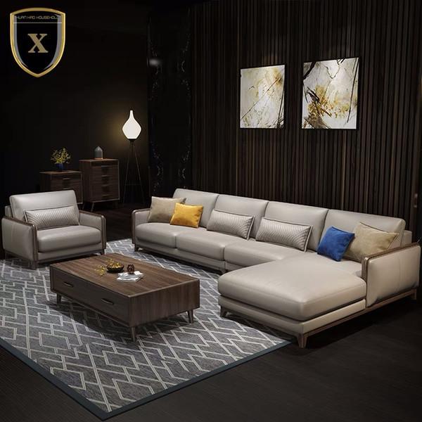 2019 2018 New Sofa Living Room Installed Nordic Wind Corner Leather Leather  Leather Sofa Combination From Hangehanwen, $100.51 | DHgate.Com