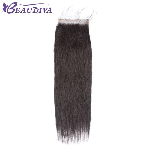 Brasilianisches glattes Haar 4x4 Spitze-Schließungs-freies Teil-Menschenhaar 100% 8-20 Zoll natürliches Farben-Jungfrau-Haar Freies Verschiffen
