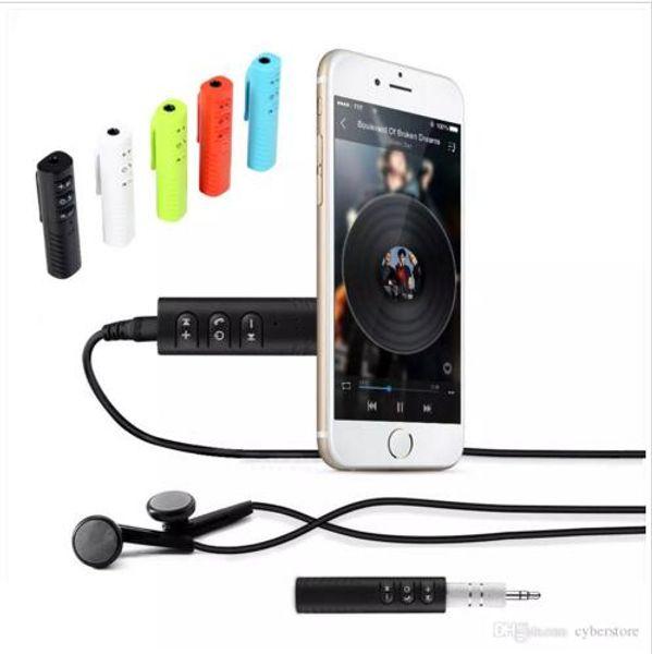 2018 Clip-on Universal 3,5mm Bluetooth Car Kit A2DP Wireless Transmitter AUX Audio Musik Receiver Adapter Freisprecheinrichtung mit Mikrofon für Telefon