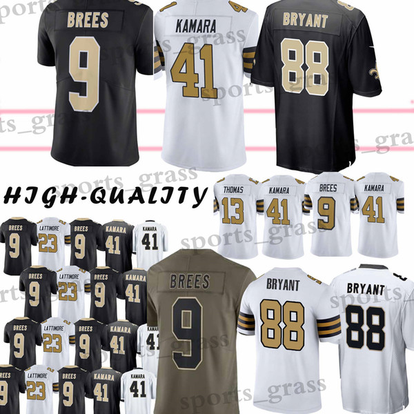 9 Drew Brees Youth and Adult New Orleans Saints 88 Dez Bryant 41 Alvin  Kamara 13 Michael Thomas 23 Marshon Lattimore jersey 2019 new 2e65ff9ad