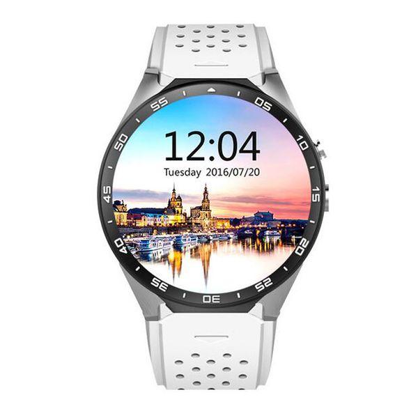 2018 4color KINGWEAR KW88 Smart Watch 1.39 Inch MTK6580 Quad Core 1.3GHZ Android 5.1 3G Smart Watch 400mAh 2.0 Mega Pixel Heart Rate 10pcs