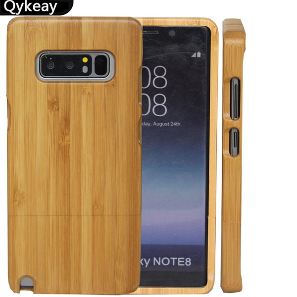Hot Sale Cellphone Cases Real Wood Phone Cover For Samsung Galaxy Note 8 S8 S9 Plus S7 edge S6 Bamboo Phone Case Hard Phone Shell For Iphone