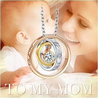"""""""I Love You Mom,Always be with you"""" Pendant Necklaces Jewelry Fashion Crystal Necklace Christmas Gift CCA8698 100pcs"""