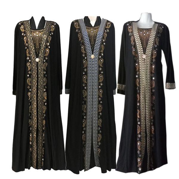 Moda araba musulmana Abaya Abito Abbigliamento islamico per le donne Dubai Kaftan Abaya Dress Abiti turchi musulmani Abiti Abaya modesto