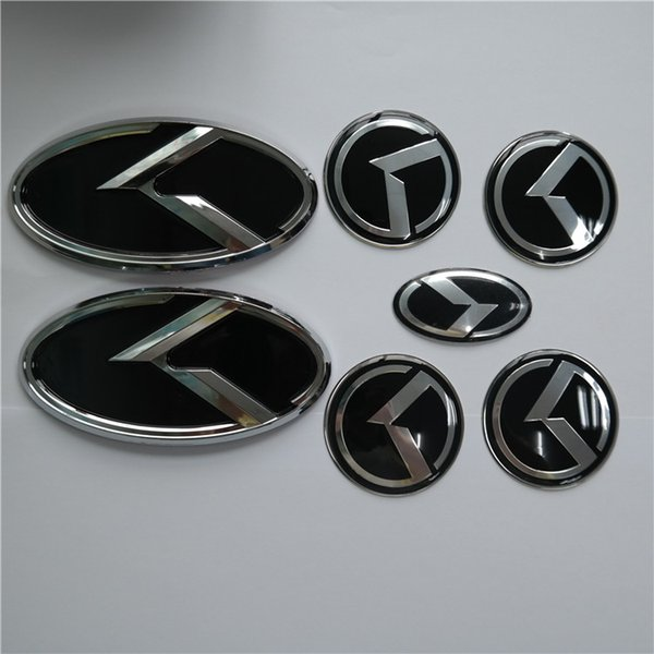 4pcs set 3D red black K logo badge for KIA new Forte YD K3 2014 2015 FRONT,REAR,STEEING WHEEL CAP Cover STICKER