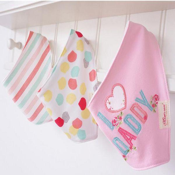 Kleinkind Kinder Baumwolle Baby Lätzchen /& Rülpsen Tücher Solid Dreieck Halstuch
