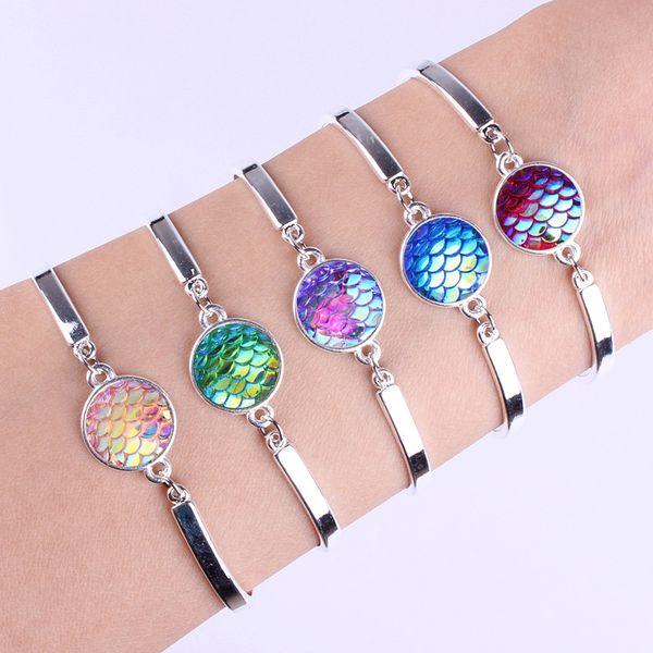 20pcs / lot Meerjungfrau-Muster-breite Liebes-Halloween-Geschenke Armband-Armbänder für Frauen-Nachrichten-modische Partei-Schmucksache-Zusätze Art und Weiseschmucksachen