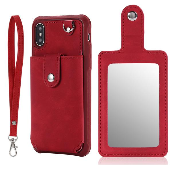 Red with mirror