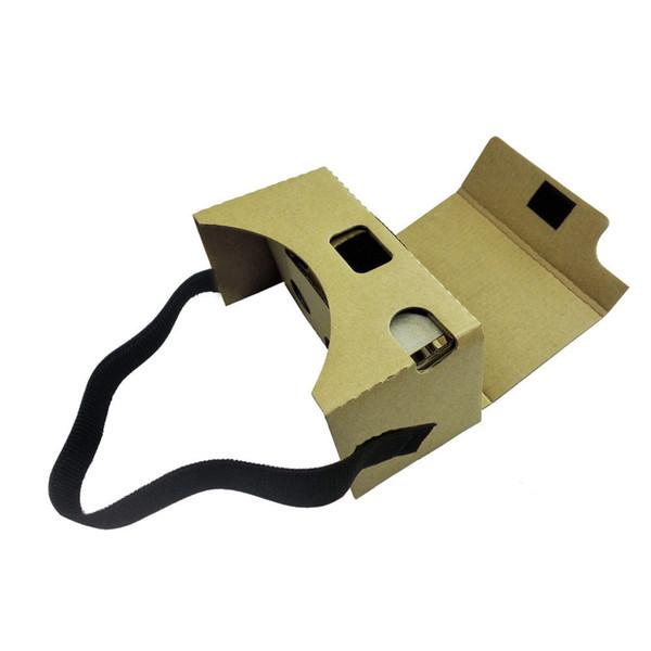 Boutique Digital High Quality Cardboard V2 3D Glasses VR Valencia Quality Max Fit 6Inch Phone + Headband For Google Nov6