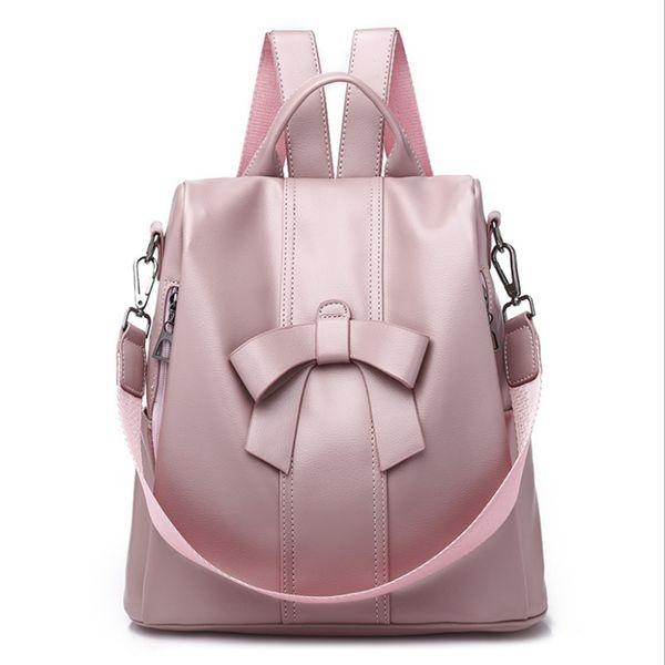 2018 Fashion PU Oxford cloth Black Pink Design Sport Outdoor Fashion Girl Women Backpacks School Bags