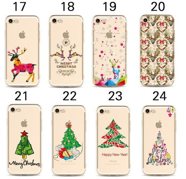 3D Cartoon Christmas Tree Soft tpu Painted Case for iPhone X XS MAX XR 8 7 6 6s plus 5 5s se 5c Merry XMAX Dog Gifts Phone Shell Cover