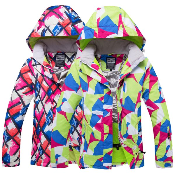 2018 WELIVENICE Winter Snow Skiing Jacket Ski Suit Snow Clothes Windproof Waterproof Pink/Green Clothes Snowboard ets