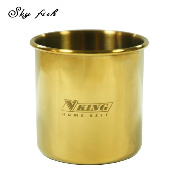 Sky Fish Classic Gold Color Moscow Mule Mug Gold Plated Drinking Cup Candle Cup Beer