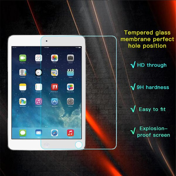 EKDME Tempered Glass Protective Films For iPad Mini 4 3 2 1 Air 2 Toughened Cover Screen Protector For iPad Mini 4 3 1 Air