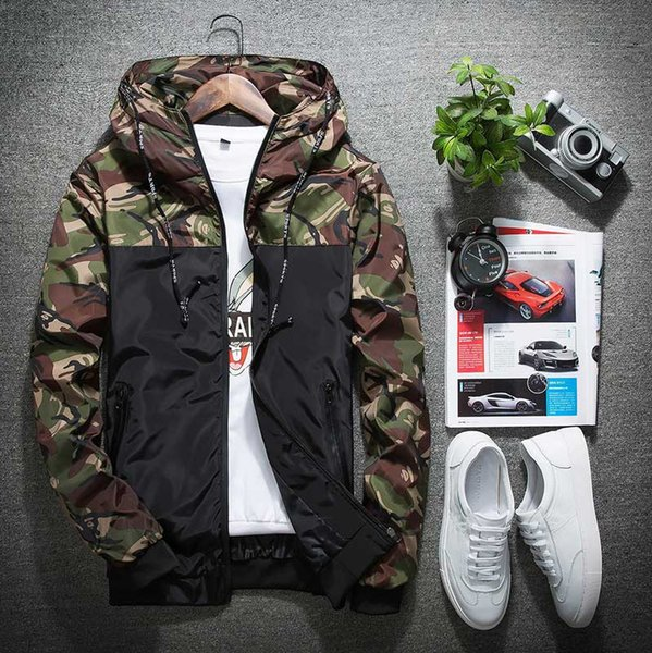 337d59dc18ec8 New Camouflage Jacket Men Women Plus Size Camouflage Patch Hooded  Windbreaker Thin Jackets Military Canvas Jacket