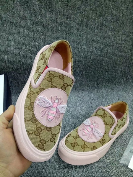 Top Quality Letter embroidery Dog Flat shoes Canvas leather Fashion Woman Casual Shoes 35-40 With Box