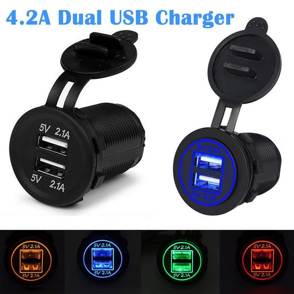 Presa accendisigari 12V per auto presa accendisigari Dual USB Caricabatteria presa per auto VR Motocycle Refitting Vehicle