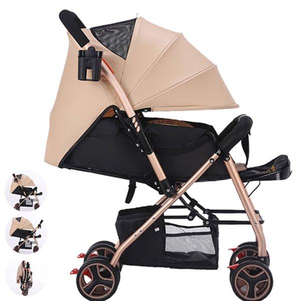 Yüksek kaliteli hafif Bebek arabası oturmuş oturan uzanmış katlanır 1-3 yaşında çocuk basit taşınabilir sepeti