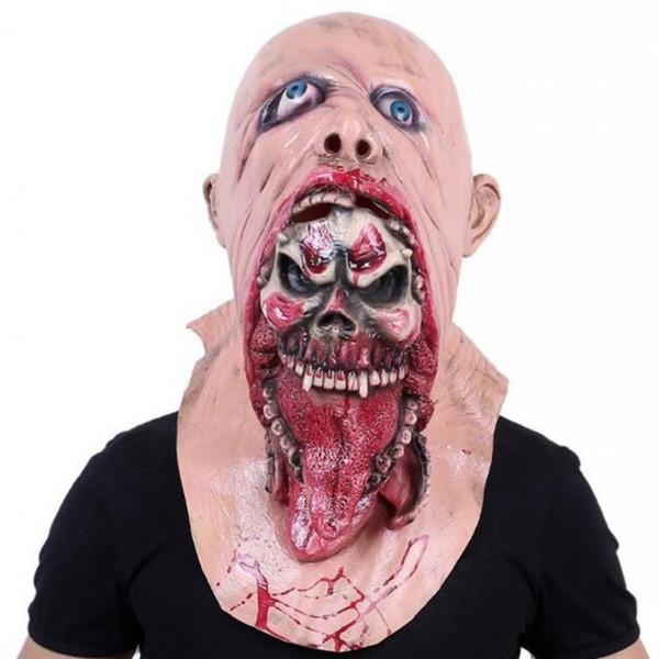Resin Mask Halloween Latex Masks Full Head Face Breathable Horror Halloween Burp Charlie Style Halloween Costume Devil