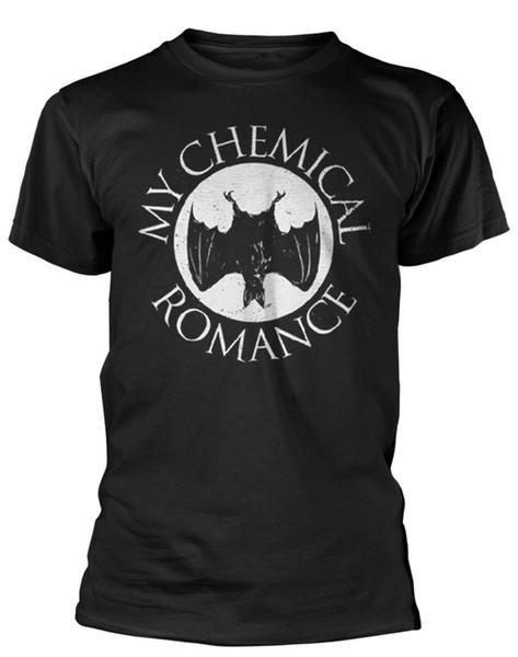 ¡Camiseta de My Chemical Romance 'Bat' - NUEVO OFICIAL! Hombres Marca Clothihng Top calidad moda para hombre camiseta 100% algodón