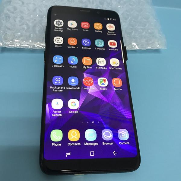 Real Fingerprint Goophone 9 Plus Android 8.0 Quad Core MTK6580 1GB RAM 4GB/8GB/16GB ROM 1280*720 HD 8MP 3G WCDMA Unlocked Cell Phones