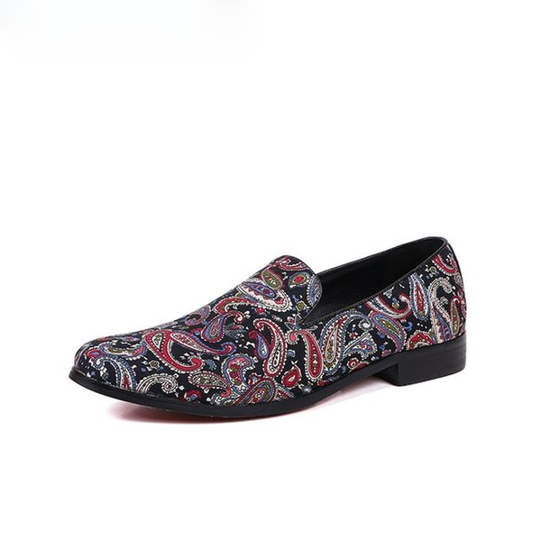 New Handmade Embroidery Men's Loafers Smoking Slipper Zapatillas Superstar Casual Moccasins Slip on Men's Flats