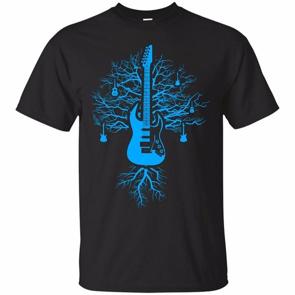 Cheap Sale 100% Cotton T Shirts For Boys Men's Cotton Crew Neck Short - Sleeve Guitar ( Tree ) Of Life T-shirt Shirts