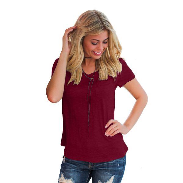 NEW Лето большого размера женская мерсеризованная хлопчатобумажная сплошная цветная футболка с короткими рукавами женская свободная футболка с v-образным вырезом толстая MM рубашка большого размера