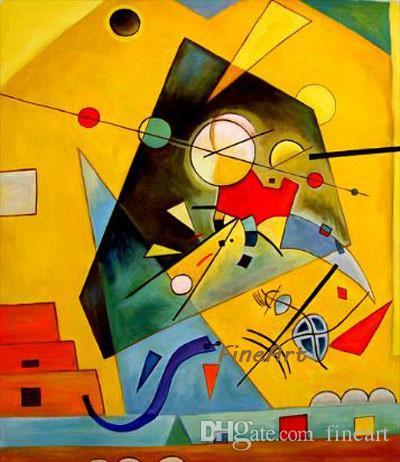 hand painted Wassily Kandinsky famous artist painting reproduction oil paintings arts oil paintings gallery canvas painting bedroom art natu