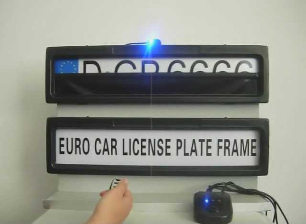 Free shipping-Plastic Car License Plate Frame European Remote Control Car Licence Frame Cover/Automatic Plate Privacy(EURO and Russia size)